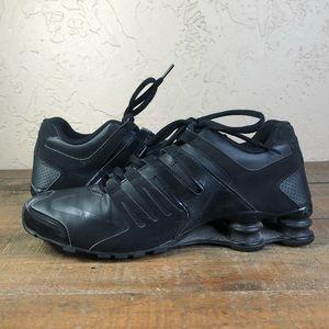 Nike shox black running shoe sneakers Sz 9.5